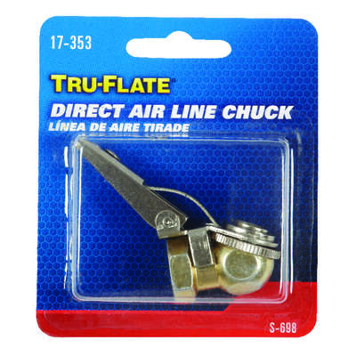 Tru-Flate  Steel  Safety Grip Air Chuck  1/4 in. FPT  NPT  1 pc.