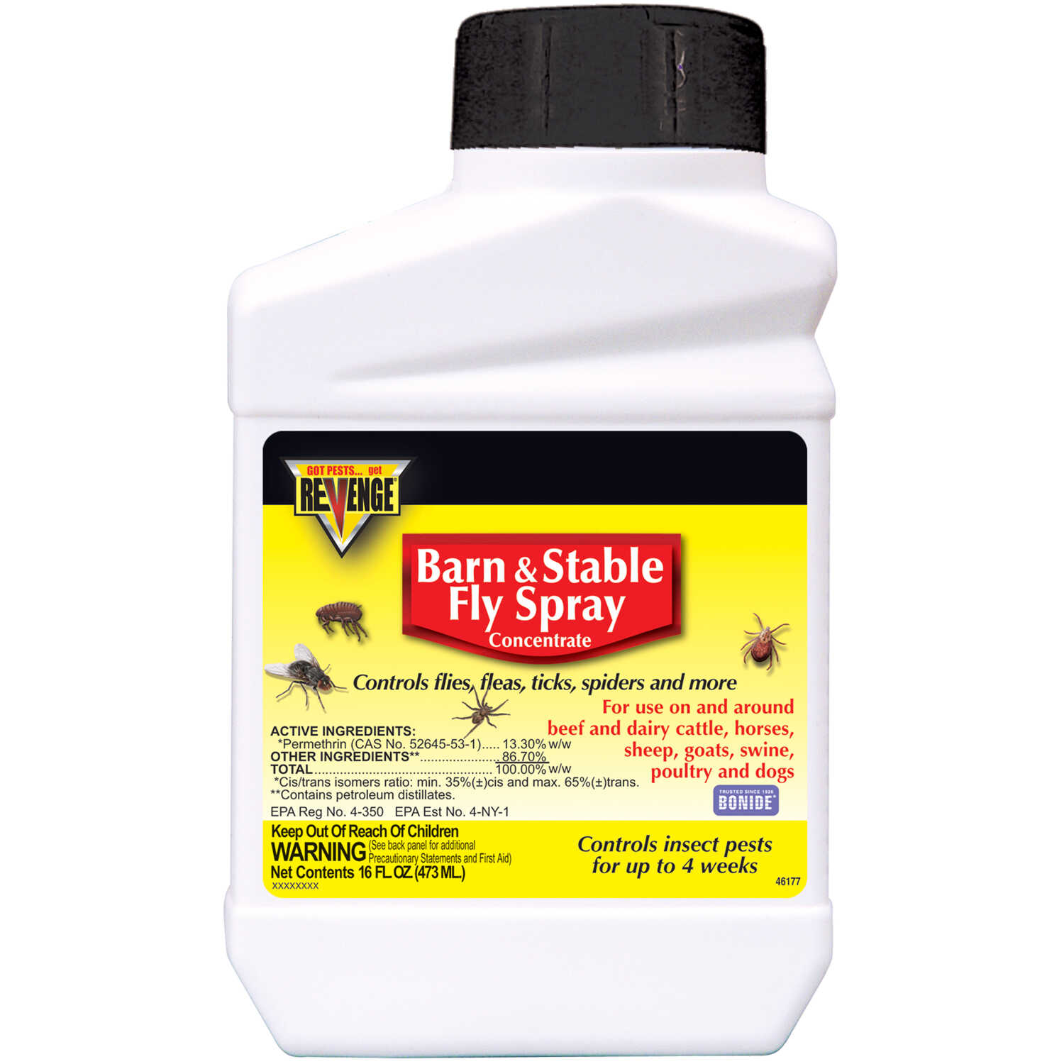 Bonide  Revenge Barn & Stable Fly Spray  Insect Killer  1 pt.
