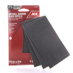 Ace  Drywall  5 in. L x 2-5/8 in. W 80/100/120/150 Grit Silicon Carbide  Sanding Sheet  8 pk
