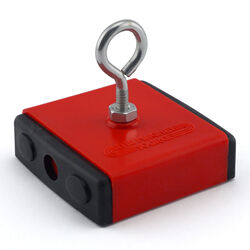 Master Magnetics  2.375 in. Ceramic  Retrieving Magnet  40 lb. pull 3.4 MGOe Red  1 pc.