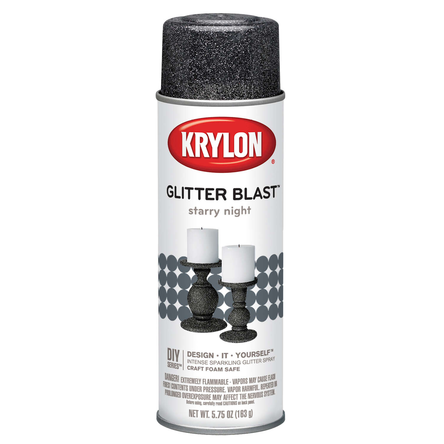 Krylon  Starry Night  Glitter Blast Spray Paint  5.75 oz.