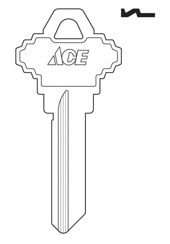 Ace  House/Office  Key Blank  Single sided For Schlage Locks