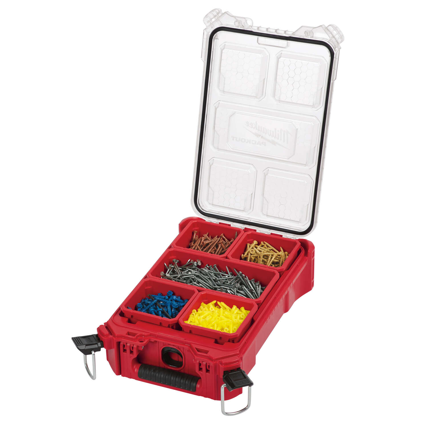 Milwaukee  PACKOUT  9.72 in. L x 15.24 in. W x 4.61 in. H Compact  Storage Organizer  5 pocket