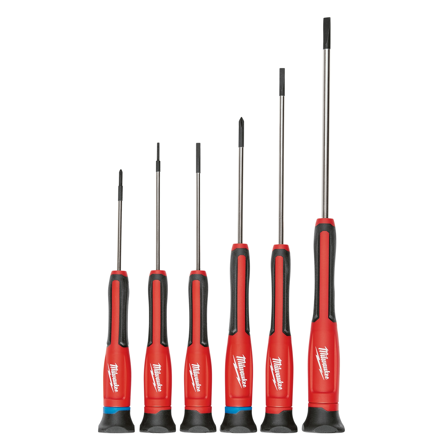 Milwaukee  6 pc. Precision Screwdriver Set  6.0 in. Chrome-Plated Steel  Assorted