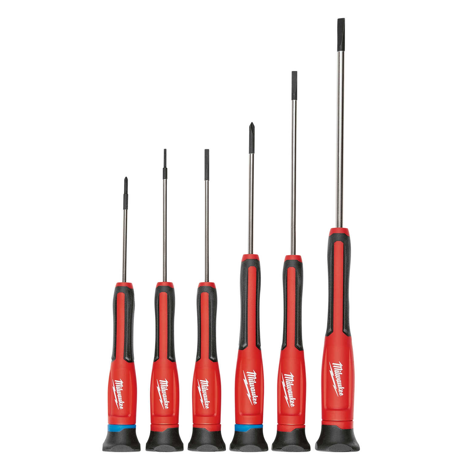 Milwaukee  6 pc. Assorted  Precision Screwdriver Set  6.0 in. Chrome-Plated Steel