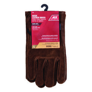 Ace  L  Gloves  Brown
