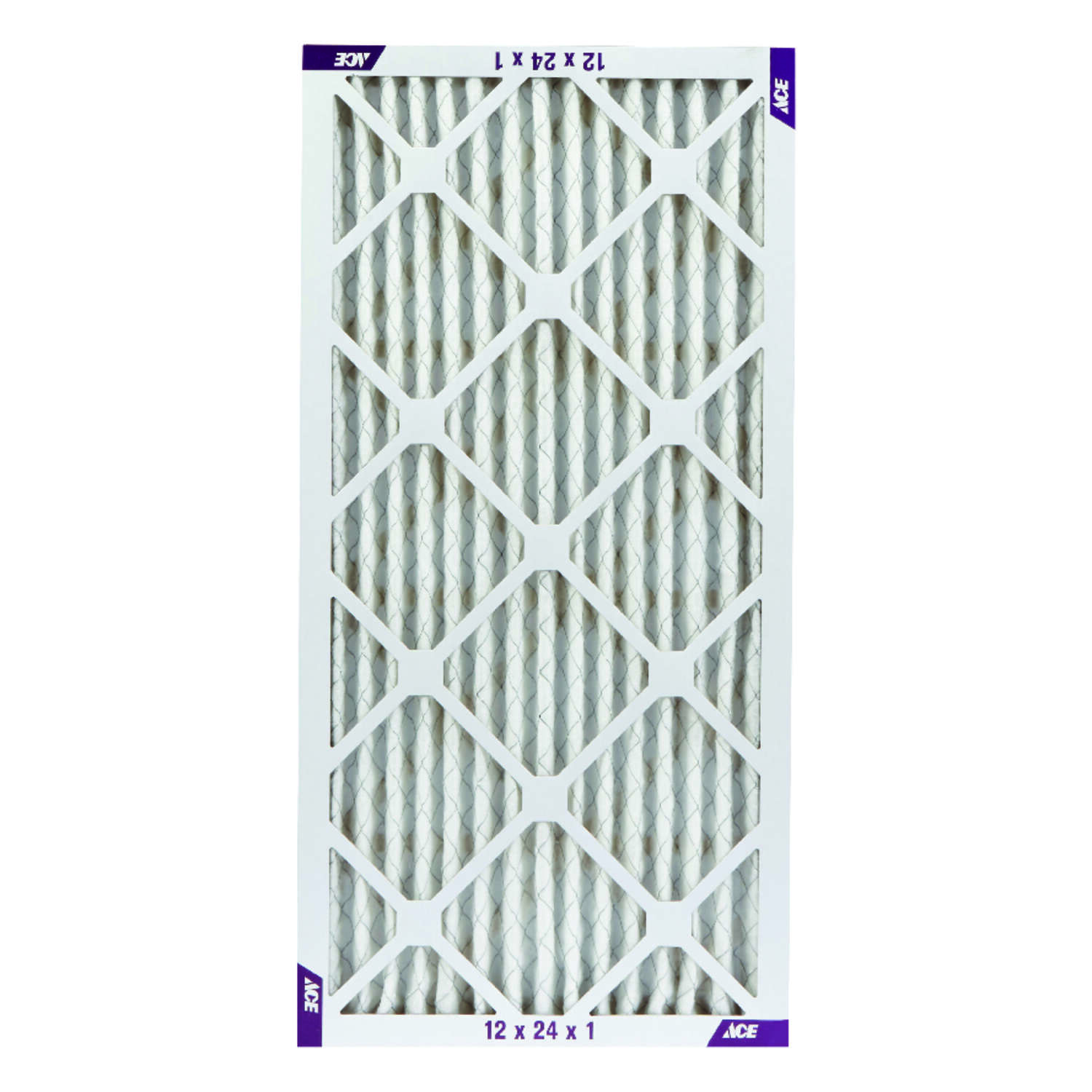 Ace  24 in. H x 12 in. W x 1 in. D Pleated  Air Filter
