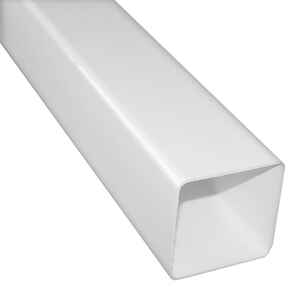 Raingo  2.5 in. H x 2.5 in. W x 10 ft. L White  Vinyl  Downspout