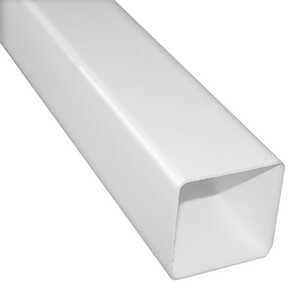 Raingo  10  L x 2.25 in. W x 2.25 in. H White  Downspout  Vinyl
