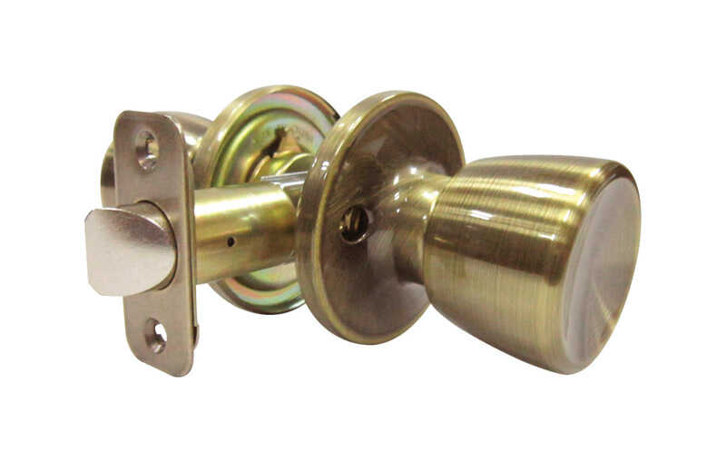 Faultless  Tulip  Antique Brass  Metal  Passage Door Knob  3 Grade Right Handed