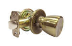 Faultless  Tulip  Antique Brass  Metal  Passage Door Knob  3  Right Handed