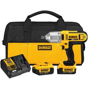 DeWalt  20V Max  1/2 in. Square  Cordless  Impact Wrench  Kit 20 volt 2300 ipm 400 ft./lbs.