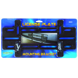 Custom Accessories  Black  Plastic  License Plate Mounting Bracket