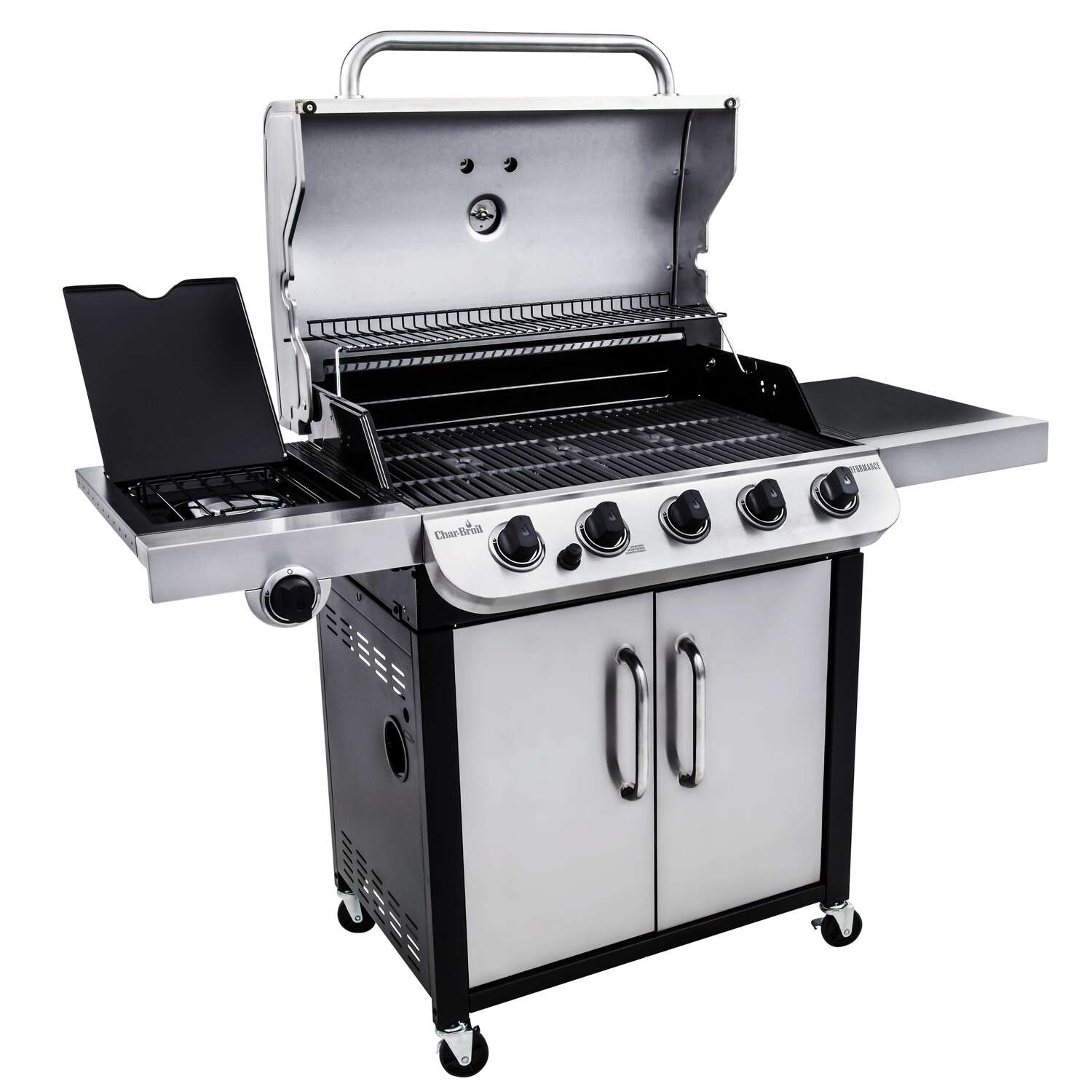Char-Broil  Performance  5 burners Propane  Silver  Grill  45000 BTU