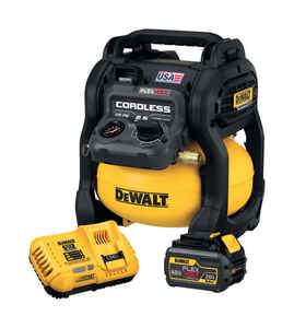 DeWalt  FLEXVOLT  2.5 gal. Pancake  Portable Air Compressor  135 psi 0.4 hp