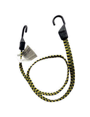 Keeper  Black/Yellow  Flat Bungee Cord  48 in. L x 0.14 in.  1 pk