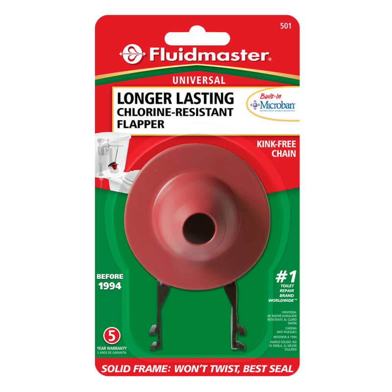 Fluidmaster  Toilet Flapper  Red  Microban
