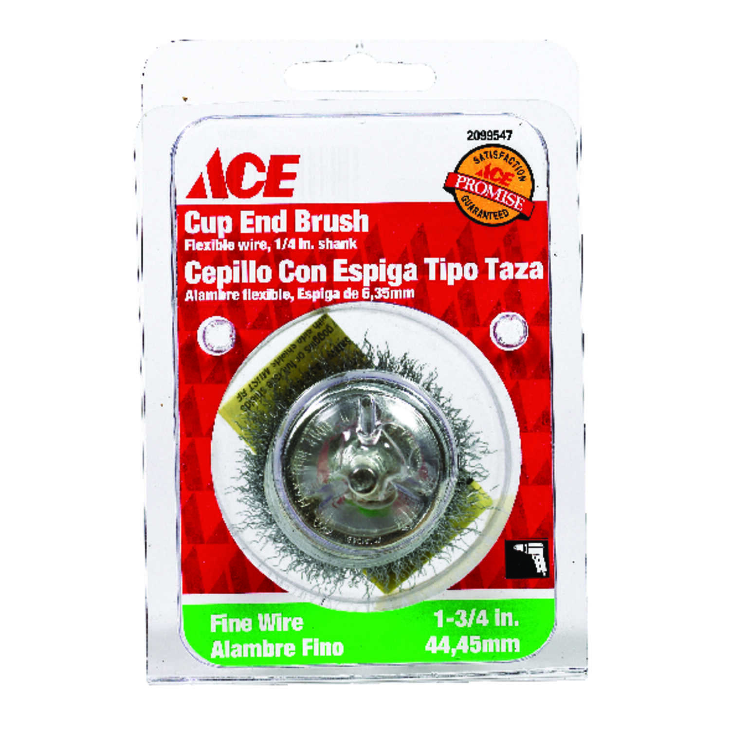 Ace  1-3/4 in. Crimped  Wire Wheel  Steel  4500 rpm 1 pc.