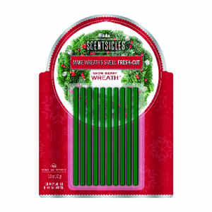 Scentsicles  Wreath  Snowberry Scent Fragrance Sticks  Solid  12 oz.