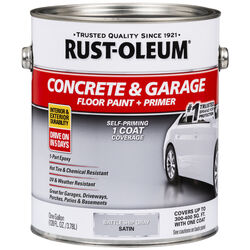 Rust-Oleum Satin Battleship Gray Acrylic Concrete and Garage Floor Paint 1 gal.