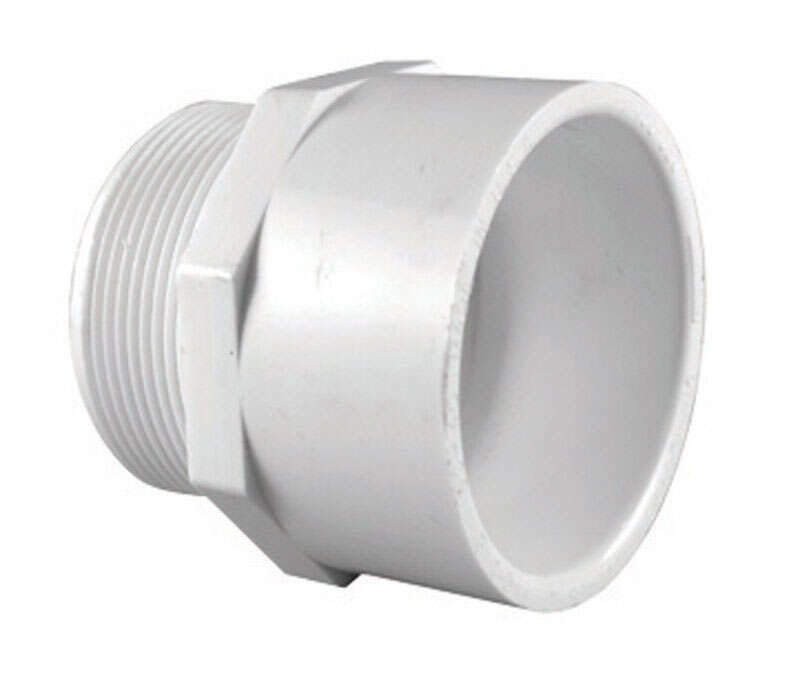 Charlotte Pipe Schedule 40 2 in. Slip x 2 in. Dia. MPT PVC Pipe Adapter