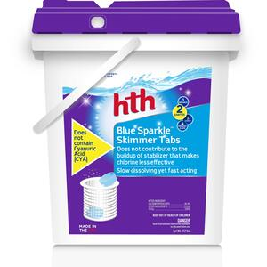 hth  Blue Sparkle  Tablet  Chlorinating Sanitizer  17.7 lb.