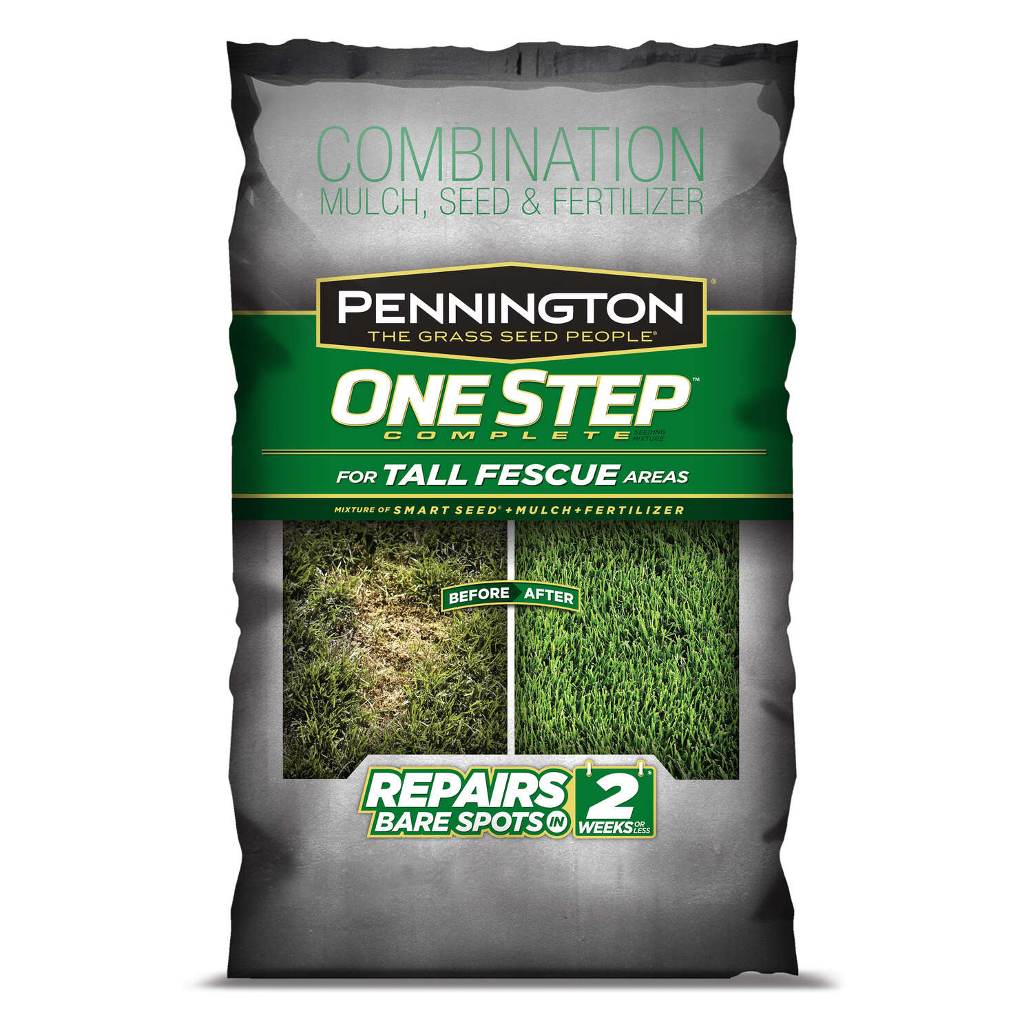 Pennington One Step Complete Tall Fescue Dense Shade Seed, Mulch & Fertilizer 8.3 lb.