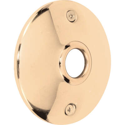 Prime-Line  Polished Brass  Steel  Door Knob Rosettes  2 pk