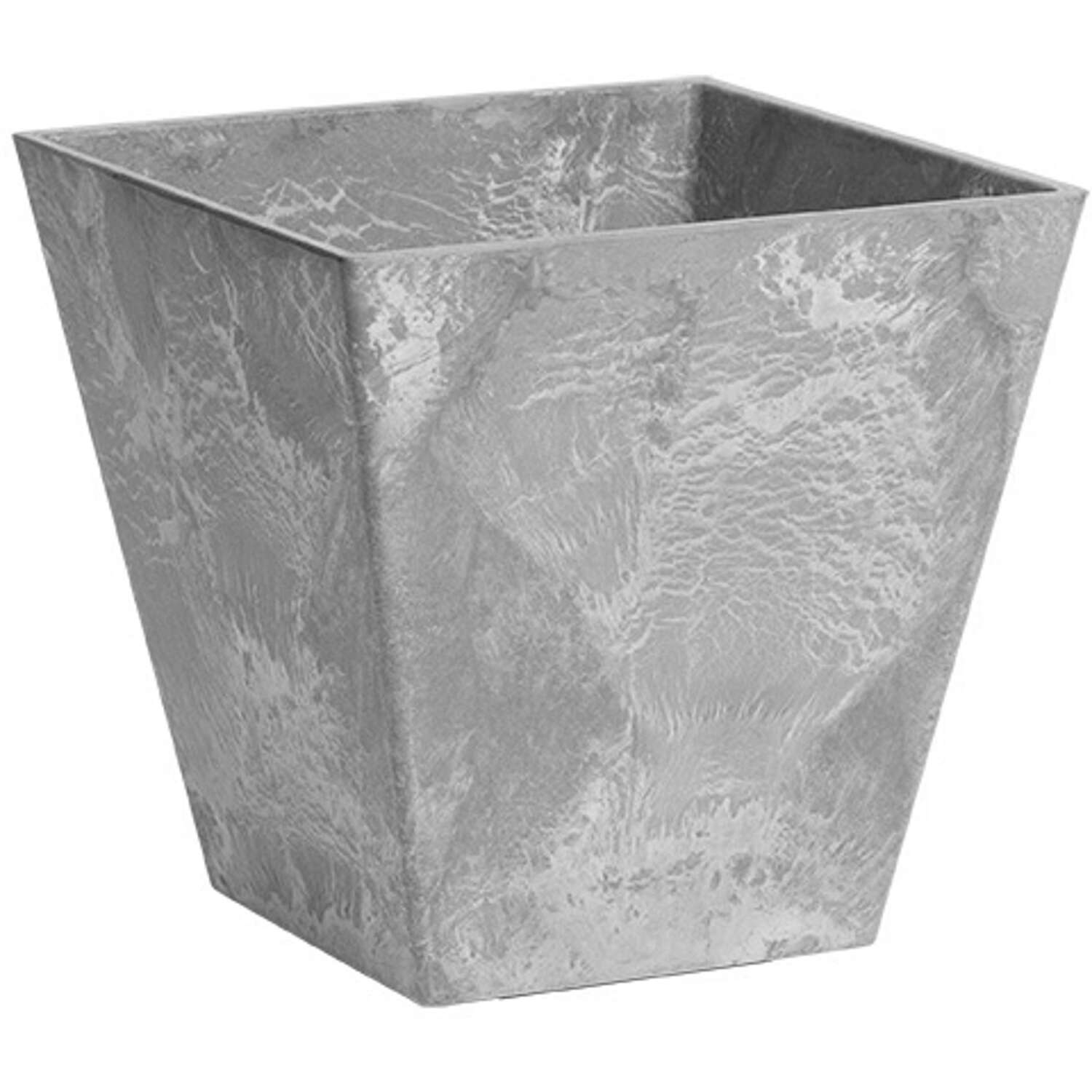 Novelty  Artstone  10 in. H x 7.81 in. W x 7.81 in. D Resin/Stone Powder  Ella  Planter  Gray