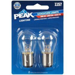 Peak  Incandescent  Parking/Stop/Tail/Turn  Miniature Automotive Bulb  1157