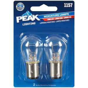 Peak  Miniature  Automotive Bulb  1157  2 pk