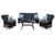Hanover  4 pc. Brown  Resin  Patio Set  Silver