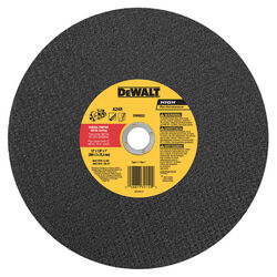 DeWalt  High Performance  12 in. Dia. x 1 in.  Aluminum Oxide  Cut-Off Wheel  1 pc.