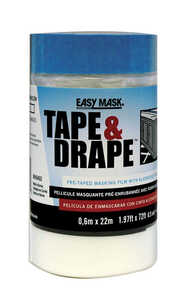 Easy Mask  Heavy Weight  Plastic  Drop Cloth  72 ft. L x 1.97 ft. W
