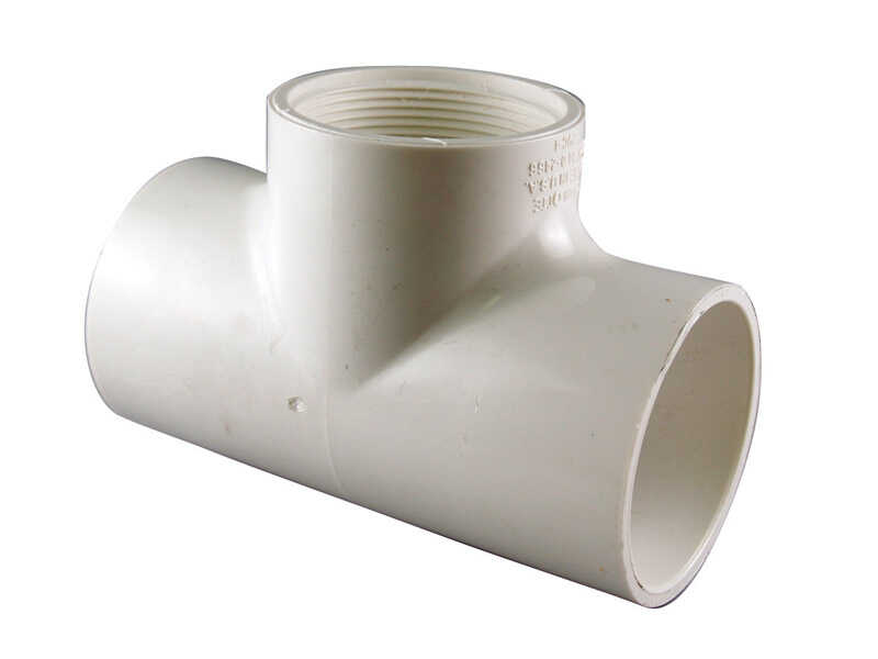 Charlotte Pipe  Schedule 40  1/2 in. Slip   x 1/2 in. Dia. Slip  PVC  Reducing Tee