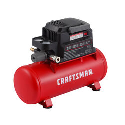 Craftsman 2 gal. Horizontal Portable Air Compressor Tank 125 psi 0.3 hp