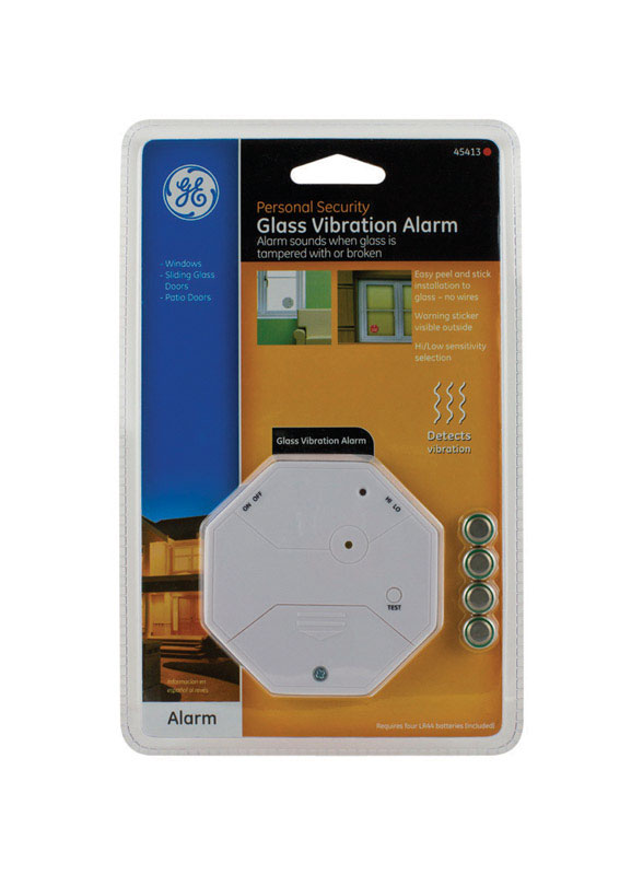 GE Glass Vibration Alarm Battery  100 dB  Clamshell