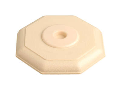 Ace 5 in. H x 5 in. L Rubber Almond Wall Door Stop Mounts to wall