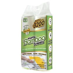 Mighty Bamboo As Seen On TV Absorbent Towel 20 sheet 1 ply 2 pk