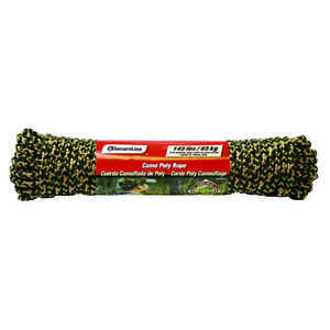 SecureLine  75 ft. L x 5/16 in. Dia. Camouflage  Rope  Polypropylene  Diamond Braided