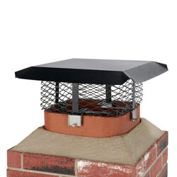 HY-C Shelter Powder Coated Steel Chimney Cover