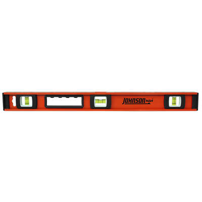 Johnson  24 in. Aluminum  Heavy Duty  I-Beam  Level  3 vial