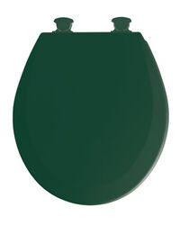 Mayfair  Round  Rain Forest Green  Molded Wood  Toilet Seat