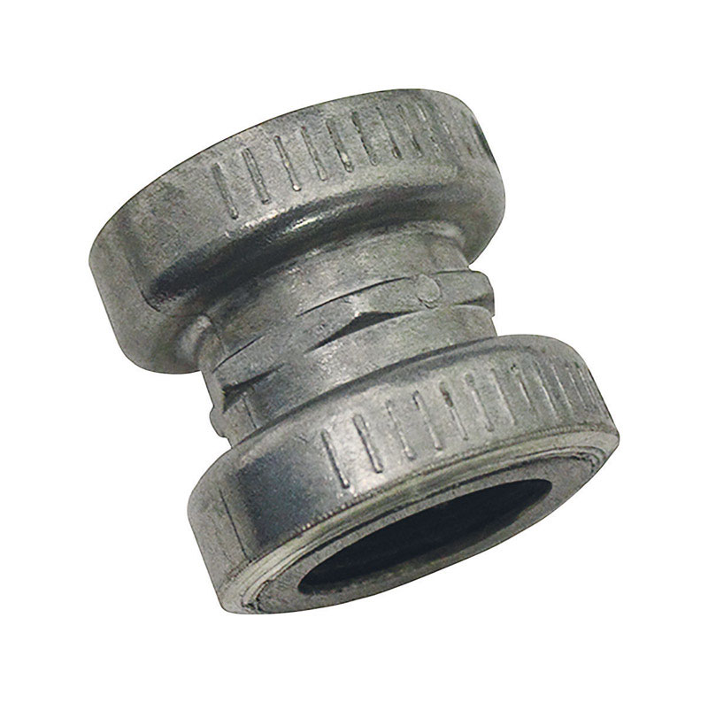 Sigma  Snap Lock  1/2 in. Dia. Zinc  Electrical Conduit Coupling  For EMT 1 pk
