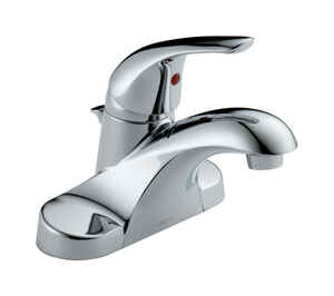 Delta  Foundations  Single Handle  Lavatory Pop-Up Faucet  4 in. Chrome