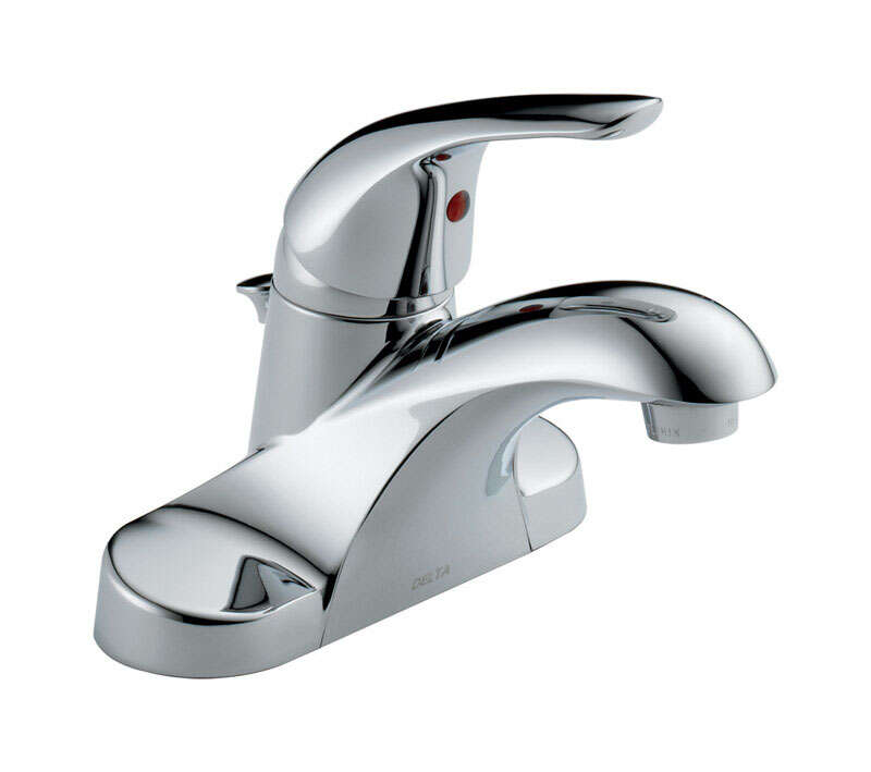 Delta  Foundations  Chrome  Single Handle  Lavatory Pop-Up Faucet  4 in.