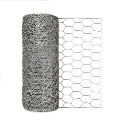 Garden Craft  12 in. H x 50 ft. L 20 Ga. Silver  Poultry Netting