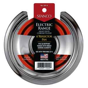 Stanco  Steel  Reflector Pan  6 in. W