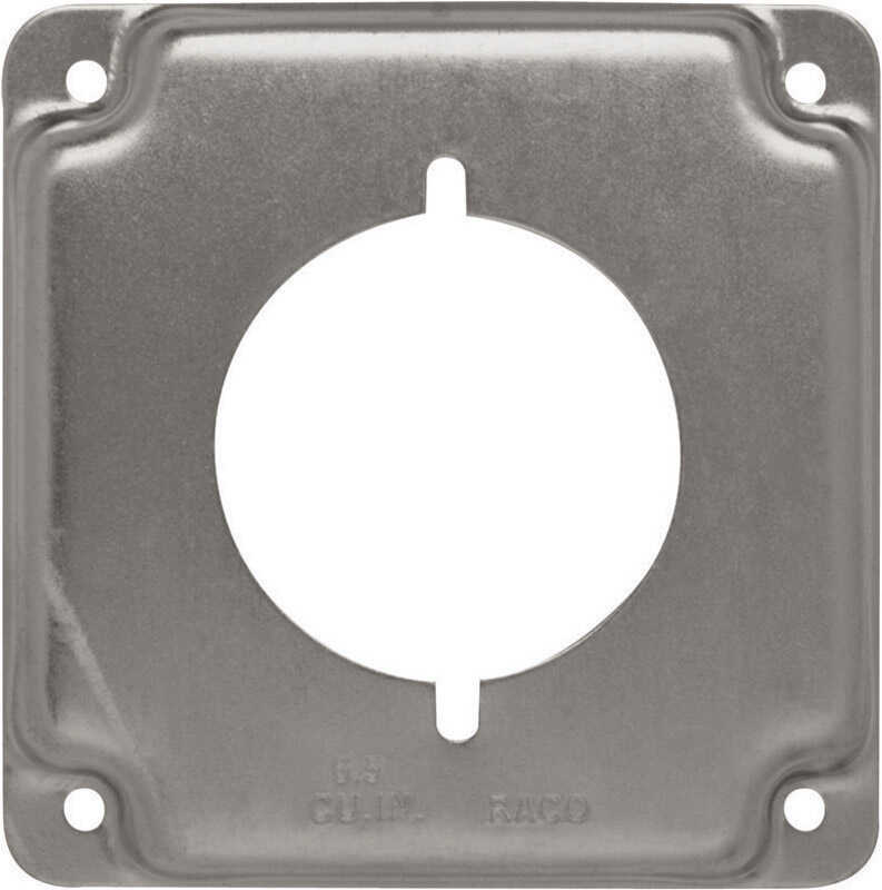 Raco  Square  Steel  Box Cover  For 1 Receptacle