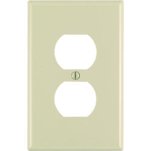 Leviton  Midway  Ivory  1 gang Nylon  Duplex Outlet  Wall Plate  1 pk